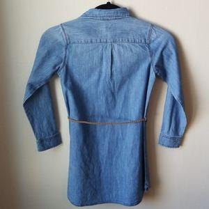 OshKosh B'gosh Dresses - Oshkosh denim shirt dress w/ braided belt, 7